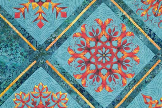 Print your kaleidoscope designs onto inkjet fabric to make stunning kaleidoscope quilt blocks.
